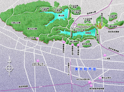 狭山丘陵マップ